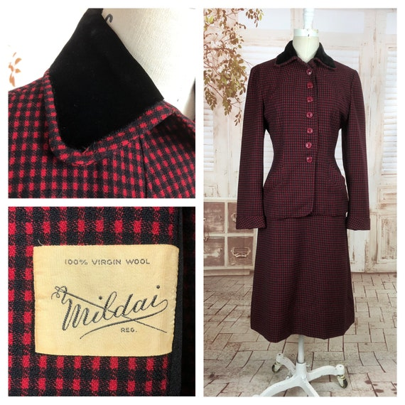 Vintage 40/'s with collar and Pocket Astrakhan suit