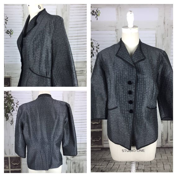 Original 1950s Vintage Grey Volup Jacket