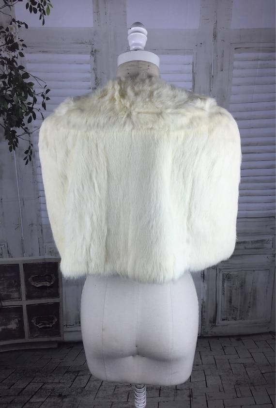 Original 1940s Vintage Coney Fur Bolero Cloak Cape - image 4