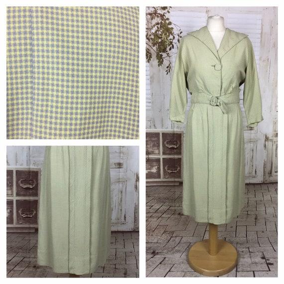 Original 1940s 40s Vintage Sportswear Green And Gr
