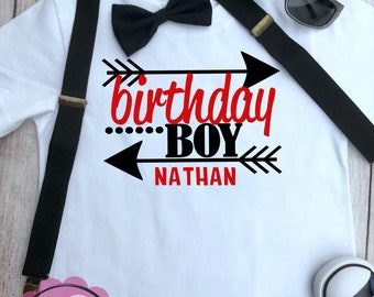 Boys Shirt - Birthday Boy - Birthday Party  Shirt- Custom Name Included - Strocketeer