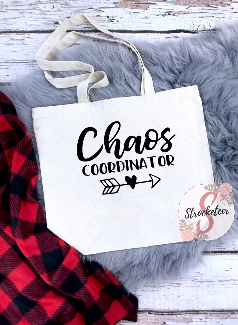 abfe8dd73fe Canvas Cotton Bag Chaos Coordinator Teacher Gift Teacher