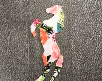 Floral Rearing Horse decal