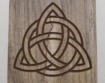 Celtic Trinity Knot Engraved Coaster
