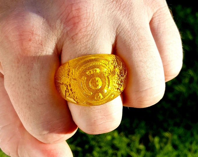 Yellow Ring of Fear (UAB Original Hand Carved Ring)