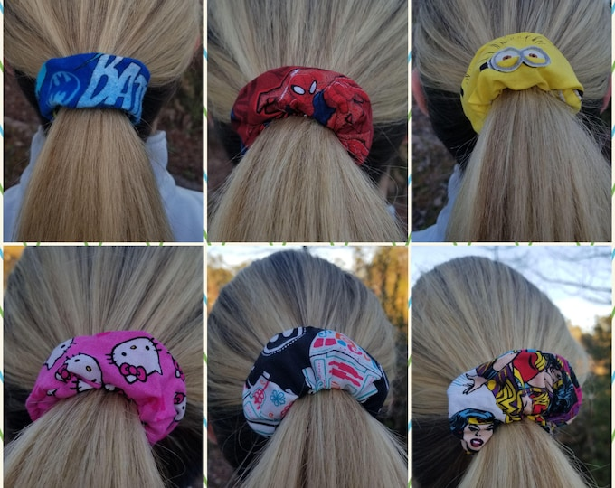 Scrunchies, commerical fabric with elastic.