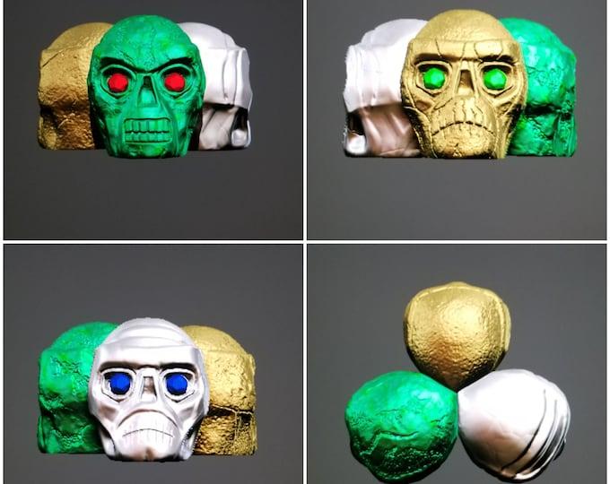 Tri-Color Skulls