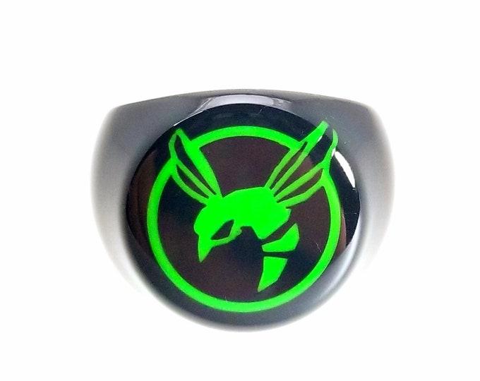 Black and Green Hornet Ring