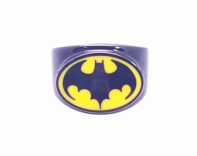 Black and Yellow Bat Ring