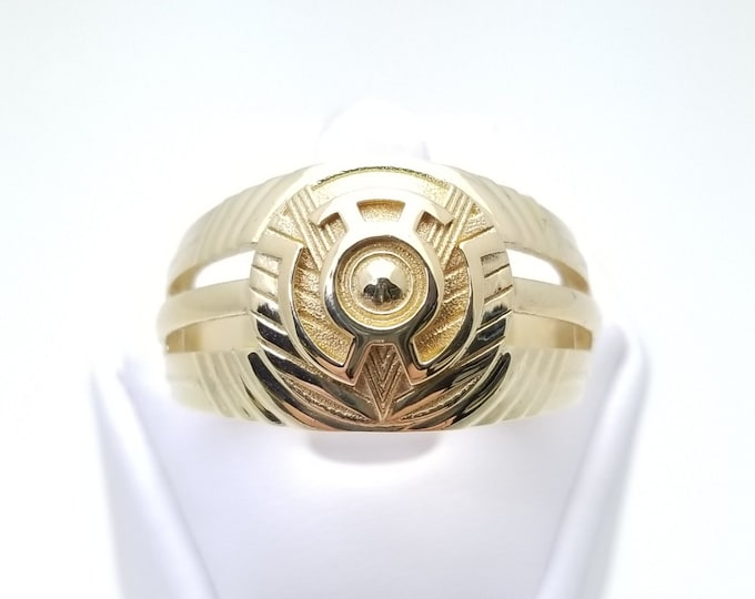 Yellow Ring of Fear 18k Gold Plated
