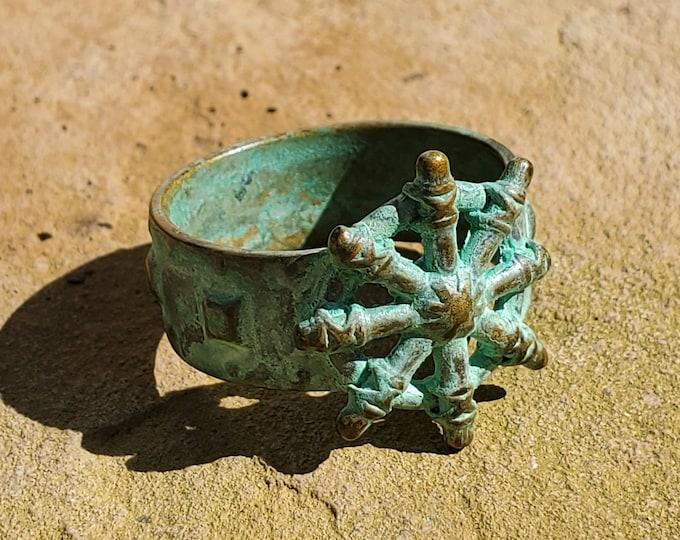 Conan the Barbarian Wheel of Pain Ring- Bronze with patina