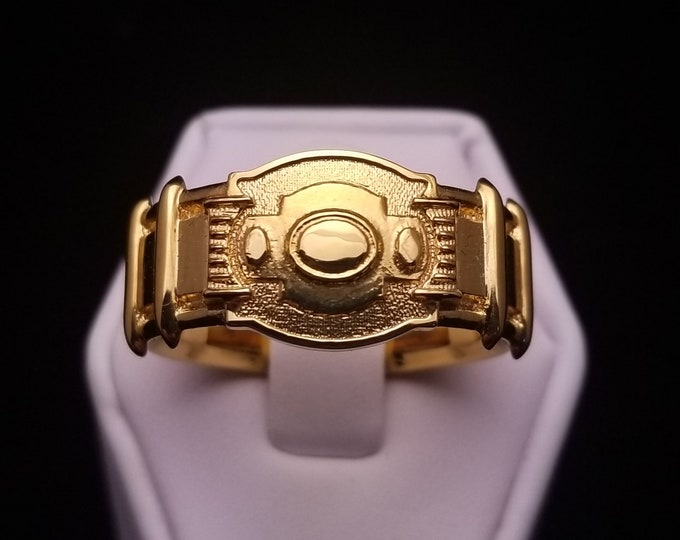 89 Utility Belt Ring 18k Gold Plated