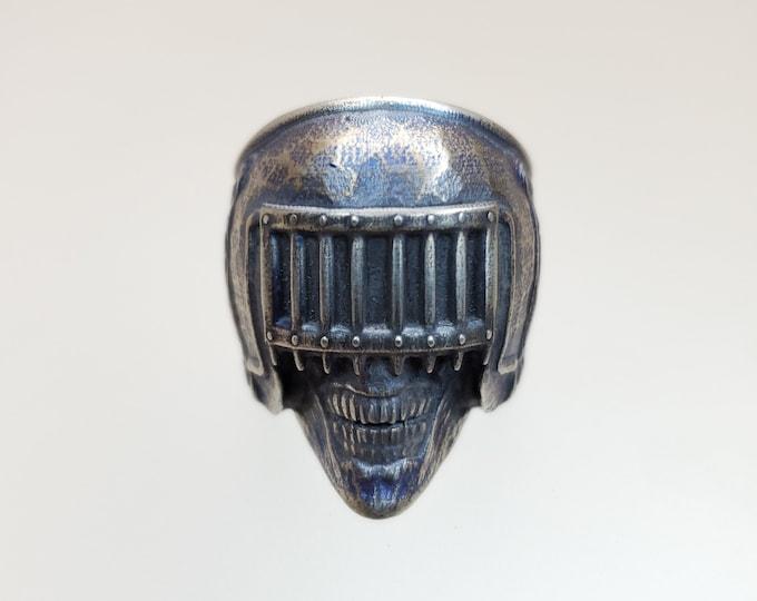 Death Skull Biker Ring .995 Silver