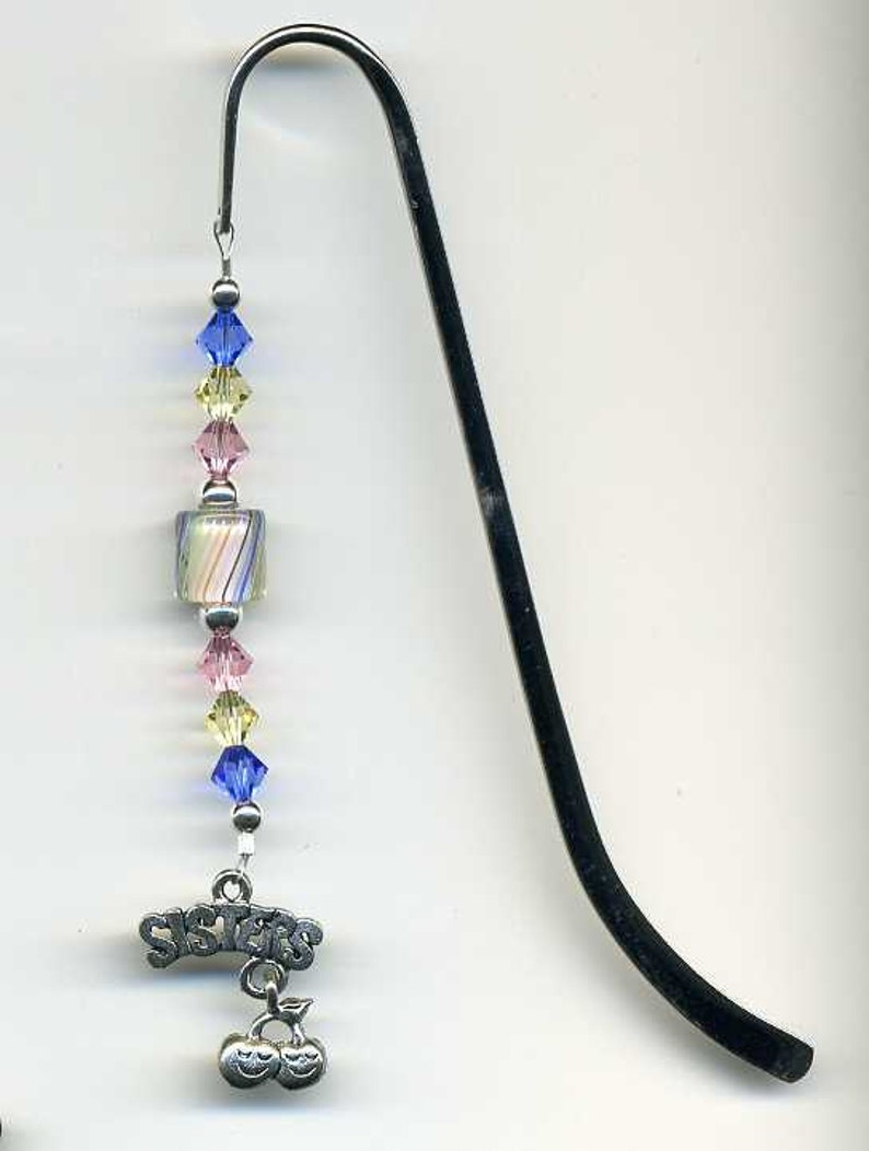 Beaded Sisters Bookmark Glass Beaded Bookmark Beadwork image 0