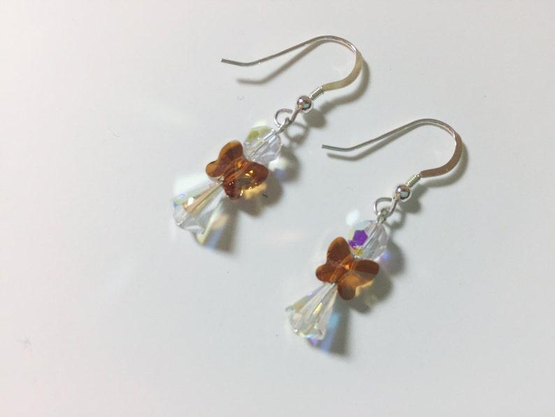 Swarovski Angel Earrings Swarovski Crystal Earrings image 0