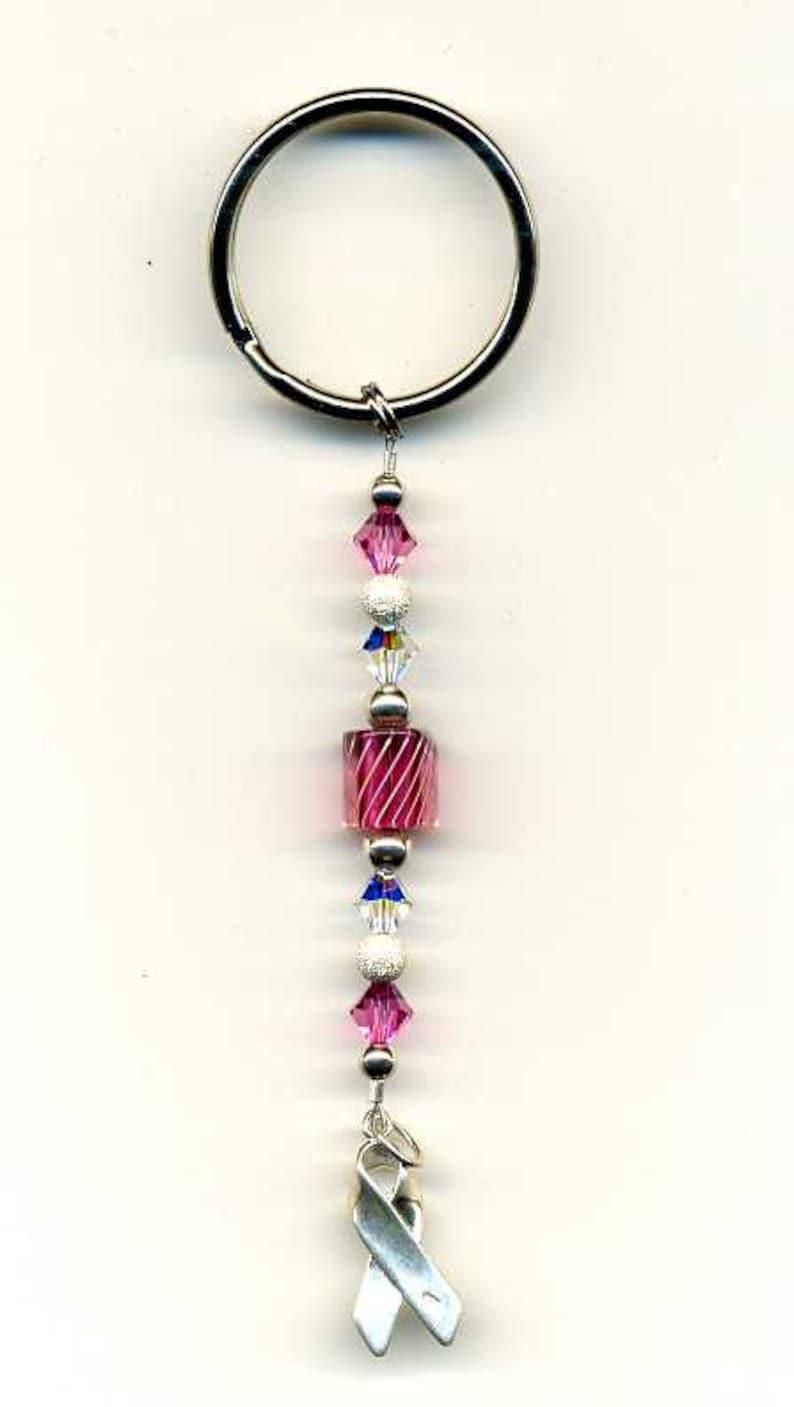 Breast Cancer Ribbon Crystal Bookmark Swarovski Crystal image 0