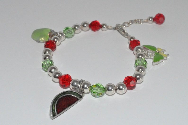 Children's Charm Bracelet Swarovski Crystal Bracelet image 0