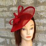 Red wedding hat poppy red fascinator hat on headband wedding fascinator red races fascinator Kate Middleton hat tea party hat red formal hat