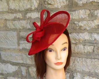 Red wedding hat poppy red fascinator hat on headband wedding fascinator red  races fascinator Kate Middleton hat tea party hat red formal hat 256f0e30ed4