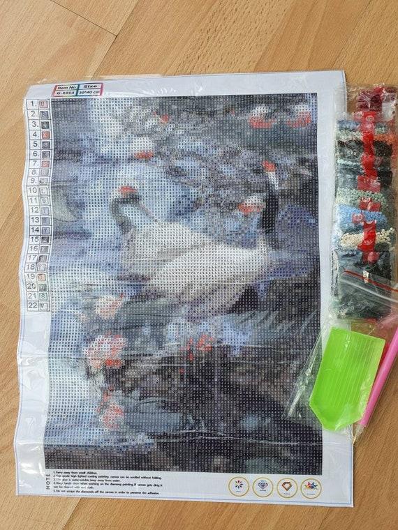 UK Penguin Couple  Full Drill 5D Diamond Painting Embroidery Cross Stitch Kit QZ