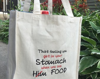 Reusable Grocery Bag Large, Embroidered
