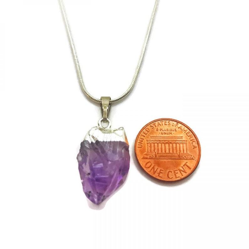 Raw Amethyst Necklace Amethyst Crystal Necklace Geode Earrings Raw Crystal Jewelry Raw Amethyst Earrings Amethyst Crystal Earrings