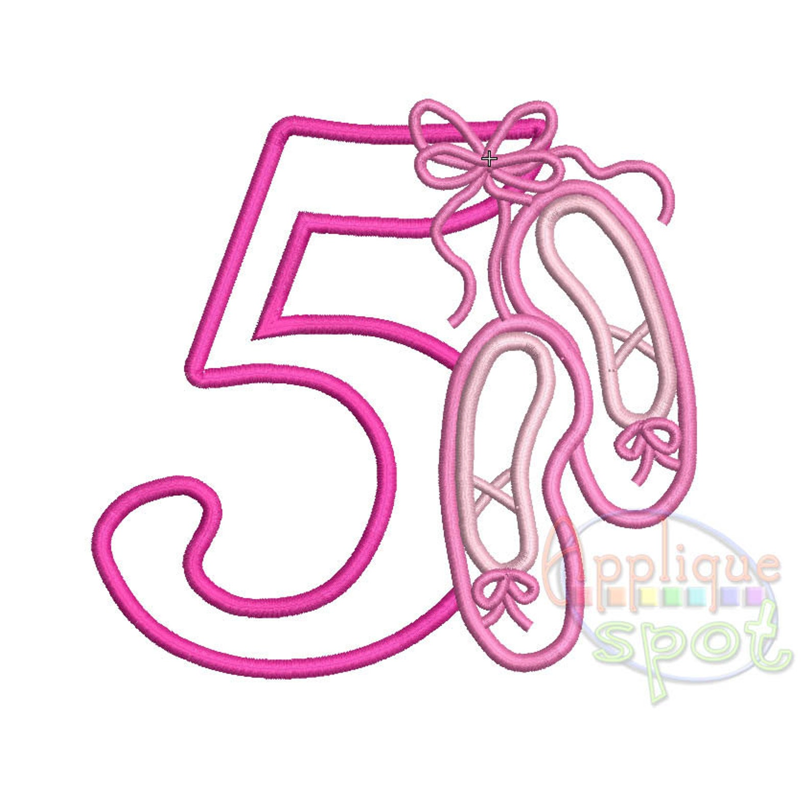 ballet numbers birthday baby girl - 4x4 5x7 6x10 applique design embroidery machine -instant download file