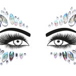 Festival Face Jewels | Crystal Holographic & Purple Face Body Jewels Sticker | Festival, Rave, | Ships in 1 Day