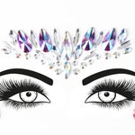 Festival Face Jewels | Purple Holographic Face & Body Jewels Sticker For Festival, Rave,  | Rave Festival Face Gem Stickers