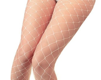 d6b00ab8c72 White Fishnet Tights l Festival