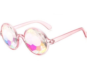 1a50daa4eef Pink Kaleidoscope Sunglasses For Rave or Music Festival