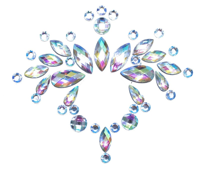 Rhinestone Belly Button Sticker  Crystal Holographic Body image 0