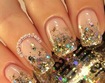 Million Dollar Gradient | Gold Holographic Glitter Nail Polish