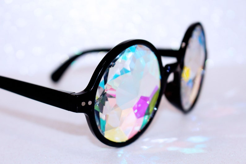 b1cecb3605b8 Defect Black Kaleidoscope Sunglasses For Rave or Music | Etsy