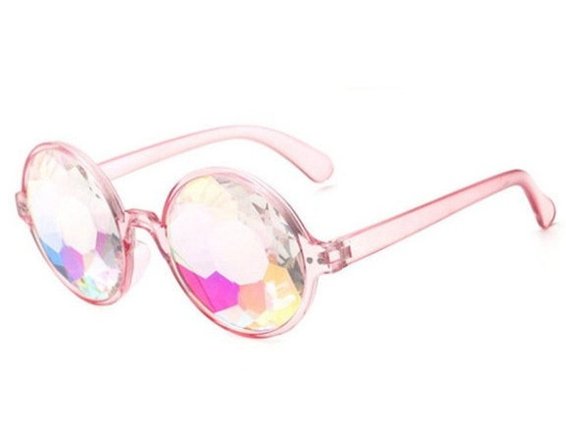 3e881f28a060 Defect Pink Kaleidoscope Sunglasses For Rave or Music Festival | Etsy