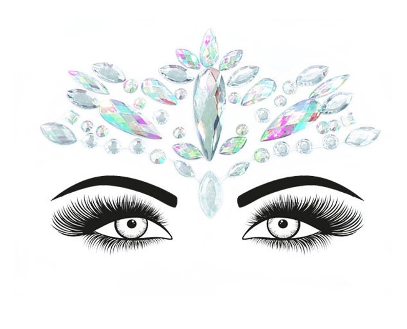 Festival Face Jewels  Crystal Holographic Body Jewels Sticker image 0