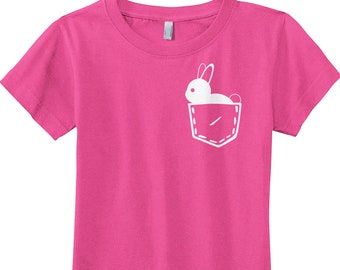 a595e20e4 Bunny In Pocket Girls' Fitted Youth T-shirt