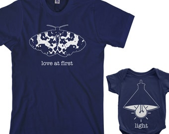 22b57af85 Love At First Light - Men's T-shirt and Infant Bodysuit Dad and Baby  Matching Set