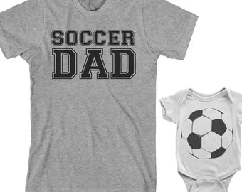 Soccer Dad And Soccer Ball - Dad and Son or Daughter Matching Set - Men's T-Shirt - Infant Bodysuit - Kids' Toddler T-shirt