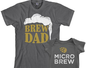 b5e126121 Dad and baby shirts