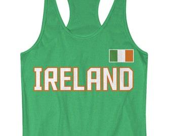 0c08c0f2cc4106 Ireland National Team Women s Racerback Tank Top Irish Pride - TA 00409