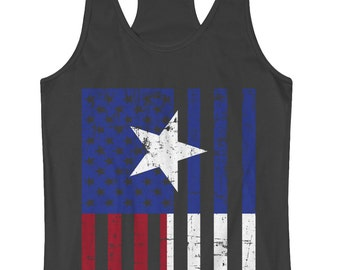 Texas American Flag Women s Racerback Tank Top Lone Star State Pride -  TA 00421 82984fdaa