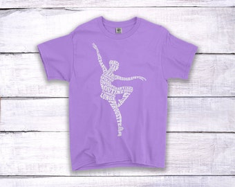 Ballet Girl Childrens Kids Girls Dance T-Shirt Tee