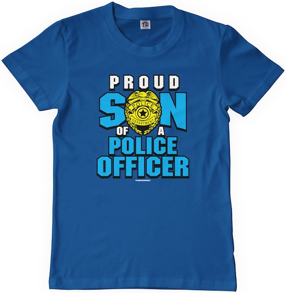 Threadrock Baby Girls Proud Daughter of a Police Officer Infant Bodysuit Dad Cop