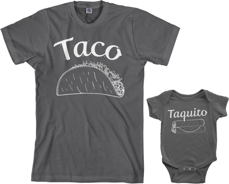 5f0a14a61 Taco & Taquito Men's T-shirt and Infant Bodysuit Dad and   Etsy
