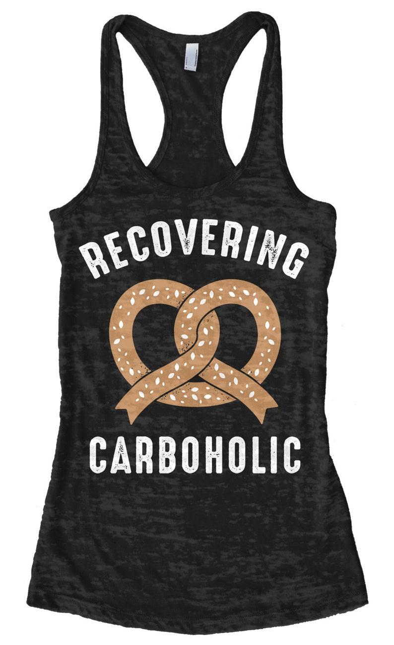 Women/'s Racerback Tank Top Recovering Carboholic Burnout Racerback Tank Top