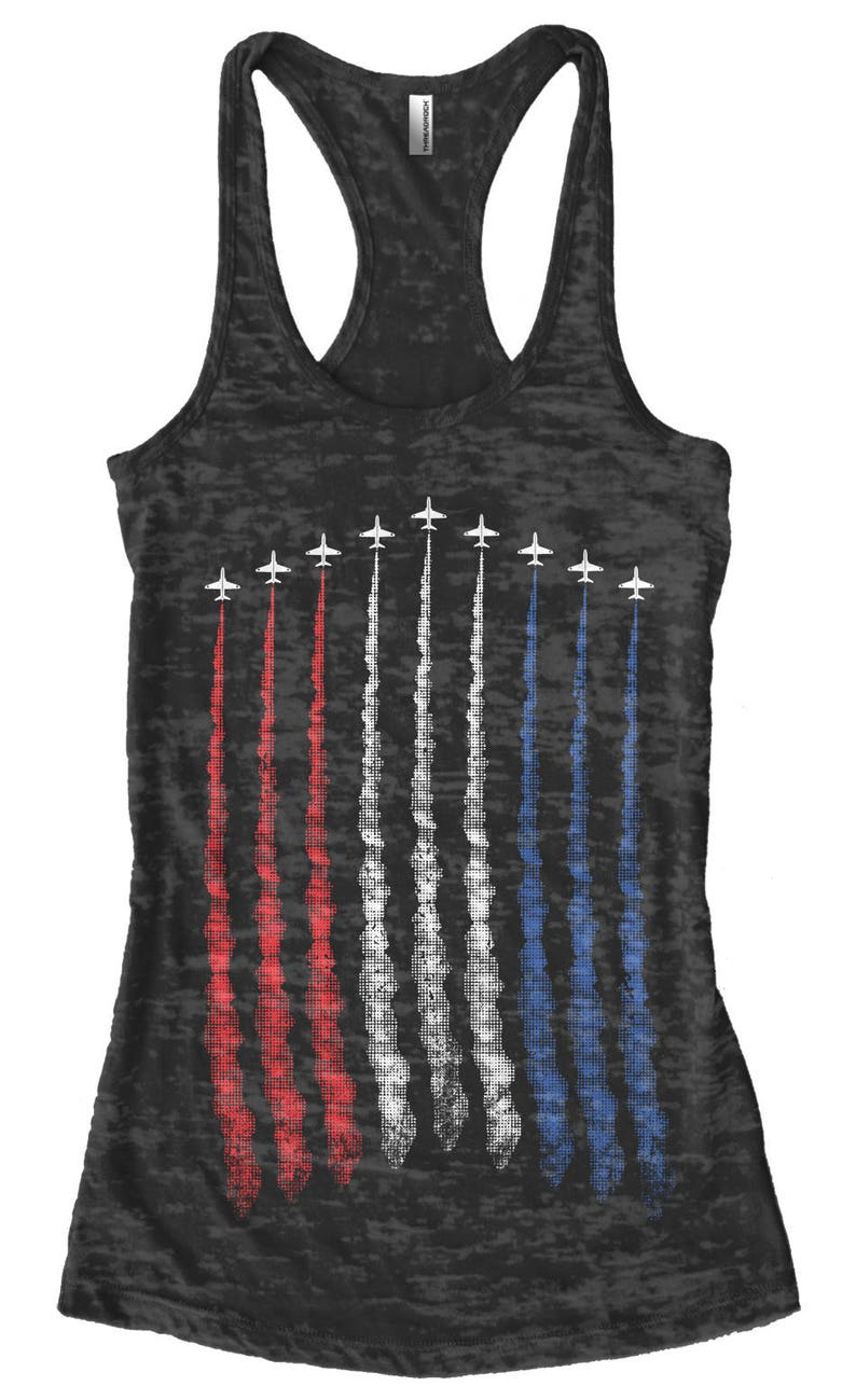Red White And Booze Women/'s Burnout Racerback Tank Top USA Flag Drinking Party