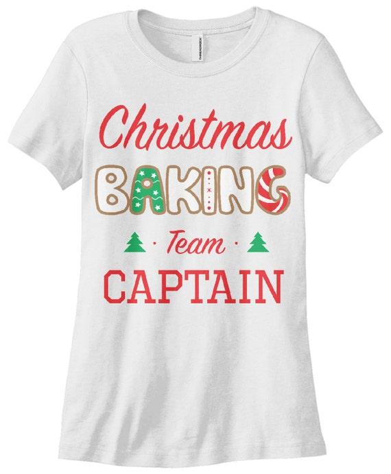 Threadrock Women/'s Christmas Baking Team Captain T-shirt Holiday
