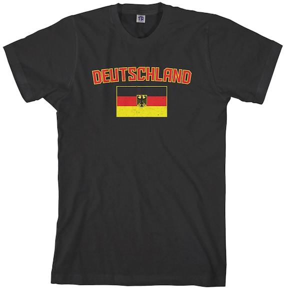 Threadrock Kids Flag of Germany Youth L//S T-shirt German Soccer Football