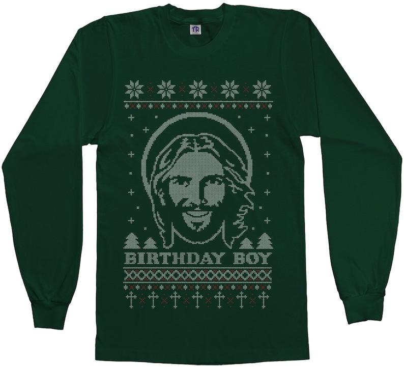 8f34fd29d Birthday Boy Jesus Ugly Christmas Sweater Men's Short | Etsy